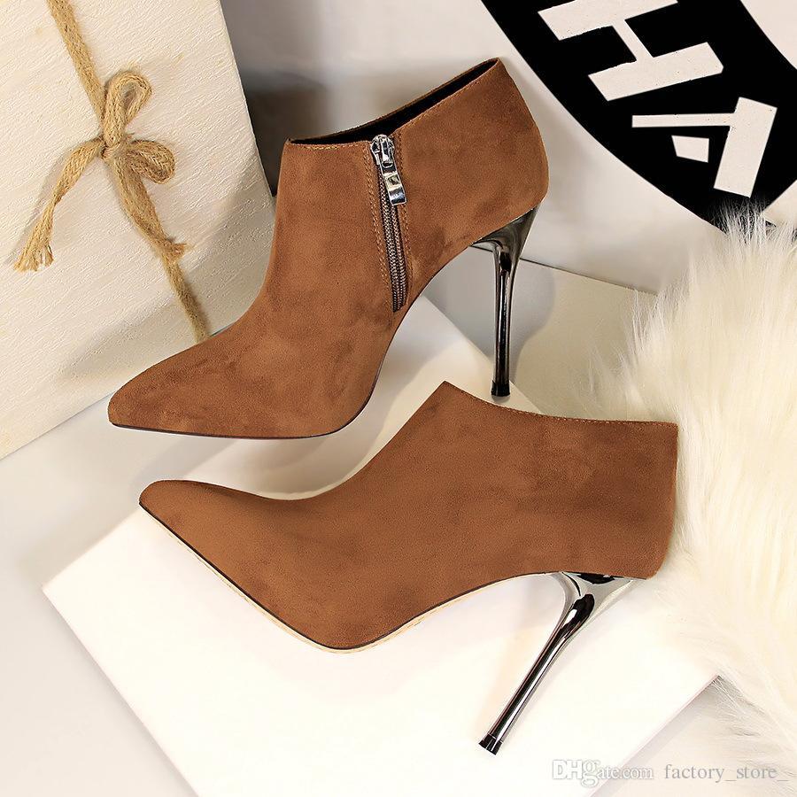 2ce34e73c4b Compre Botines Para Mujer Tacones Altos Botas Mujer Zapatos De Lujo Mujer  Diseñador Damas Zapatos De Mujer Botas Mujer Invierno Bottes Femme A  36.43  Del ...