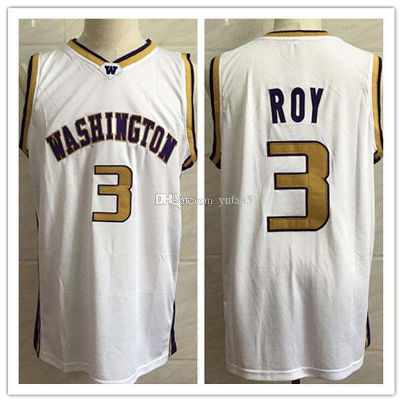 low priced aec15 3442a #3 Brandon Roy Washington Huskies College Retro Classic Basketball Jersey  Mens Stitched Custom Number and name Jerseys