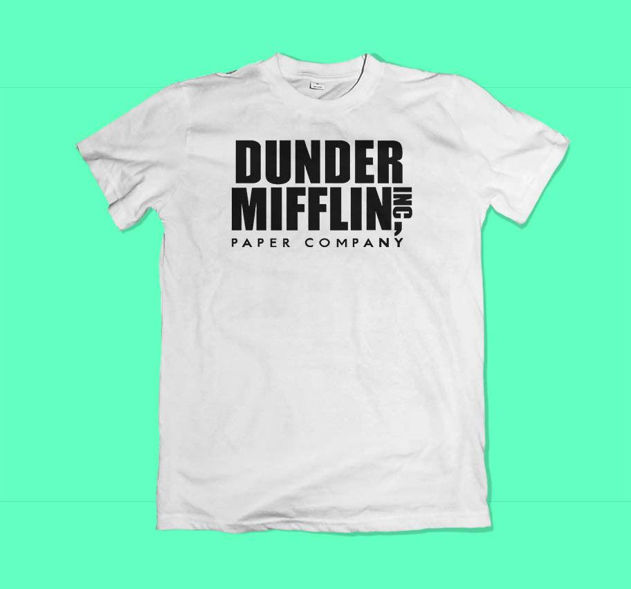 61ef1fef62b98 New Dunder Mifflin The Office Men S Black White T Shirt Size XS 3XL Tee  Shirt Sites T Shirt 1 From Oldshop77