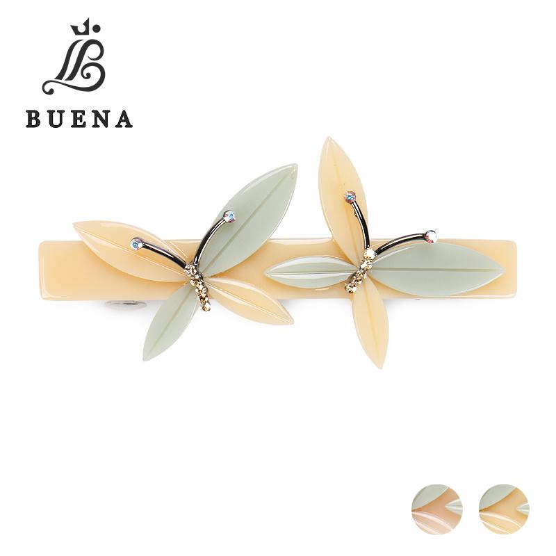 Two Butterflies Hair Bow Barrette Cellulose Acetate Vintage Fashion Jewelry  Beige And Pink Parent-child Suit Hair Clip NG005 Online with  24.97 Piece on  ... 3cbdb2f04e11