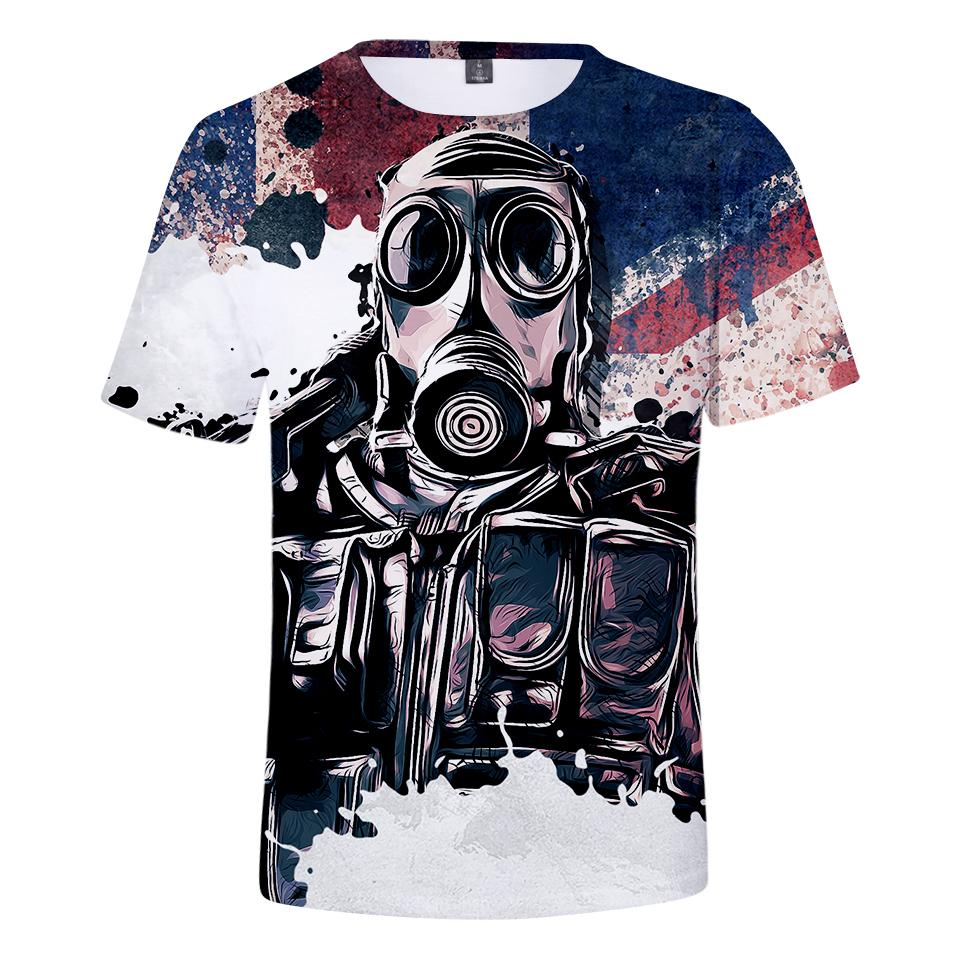 749017b7 2019 Summer 3d Mens T Shirt Rainbow Six Siege Hot Game 3d Print Short  Sleeve Rainbow Six Siege T Shirt Women Clothes T Shirt Designs Cool Shirts  From ...