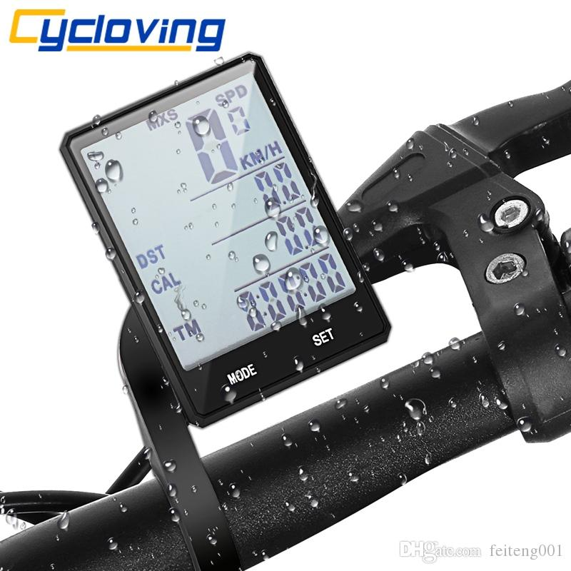 "Cycloving 2.8""Touch bicycle Computer Cycling Wireless Speedometer Odometer waterproof Cycle Stopwatch Bike Computer #24094"