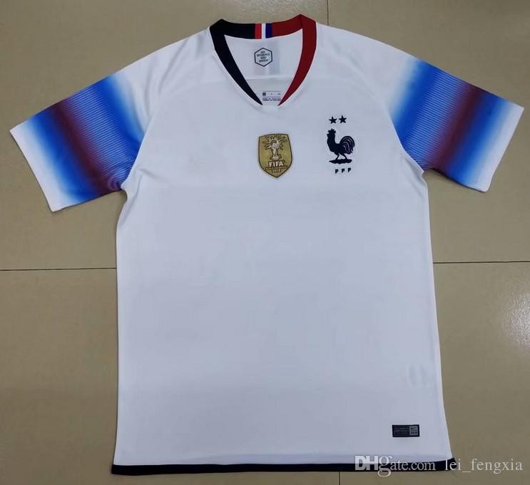 Compre 2019 2020 Camisa De Futebol Francês 7 GRIEZMANN 6 POGBA 10 MBAPPE 11  DEMBELE KANTE UMTITI Personalizar Camisa De Futebol Branco 2 Estrelas  Camisas De ... b2df9450d0dc2