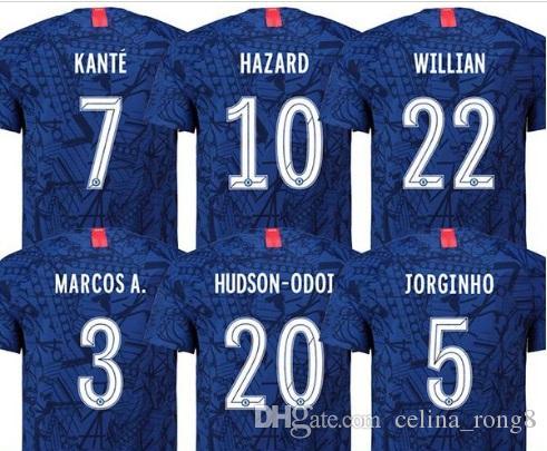 Best Free Fonts 2020 2019 New Font 19 20 Home Soccer Jersey JORGINHO HAZARD GIROUD