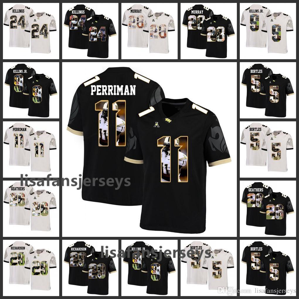official photos 0cb90 c708c Mens UCF Knights Jerseys 9 Adrian Killins Jr. 5 Blake Bortles 11 Breshad  Perriman Custom Player Printed College Football NCAA Jersey