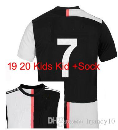 4109187564fc8 2019 Juventus Home Kids Soccer Jersey Football Shirt 2019 2020 RONALDO 19 20  Uniforms Champions Bernardeschi DYBALA JUVE EA SPORTS Kits Socks From  Lrjandy10 ...