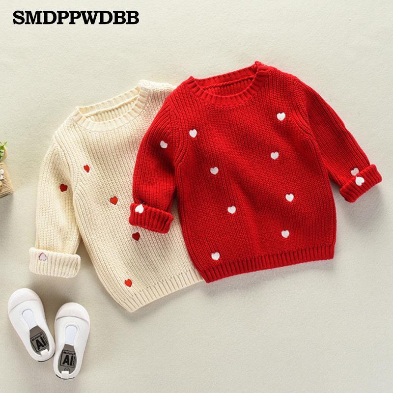Children Baby Sweaters Dot Boys Sweaters Winter Girls Knit Kids