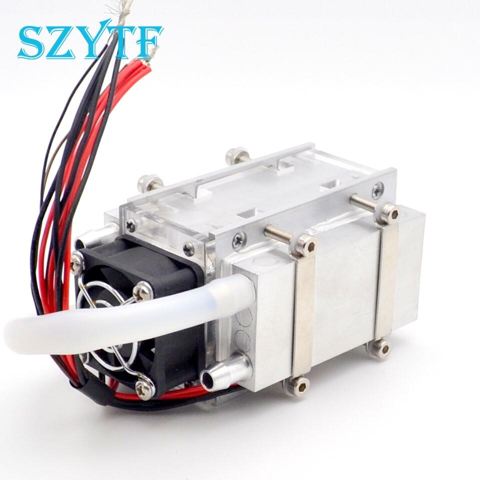 DIY TEC Peltier semiconductor refrigerator water-cooling air condition  Movement for refrigeration and fan refrigerator fan
