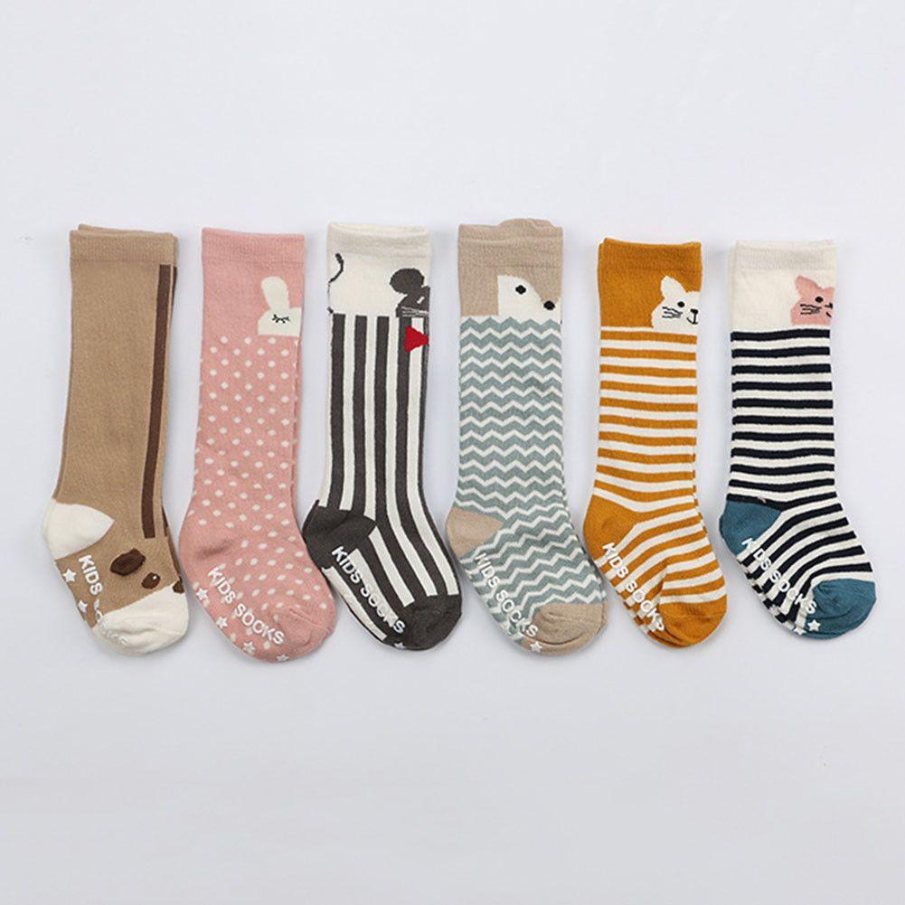 Fox Pattern-nascidos crianças meninas meninos animal antiderrapante Joelho meias altas Meias bebê