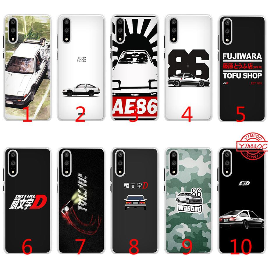 san francisco f2399 0ee6b INITIAL D 86 Soft Silicone Phone Case for Huawei P10 P20 Lite P8 P9 Lite  2015 2016 2017 P Smart Cover