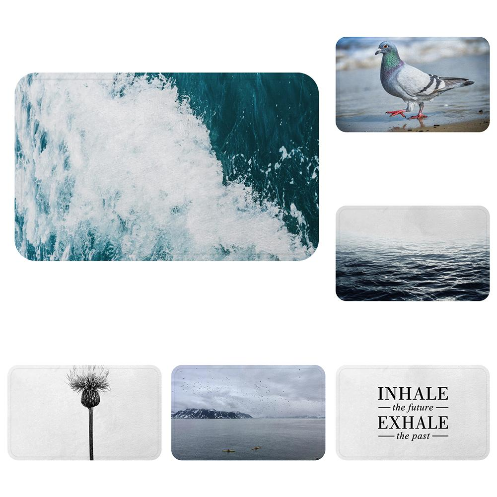 Surf Noruega Nordic Sea Pigeon Cool Mat Alfombra de baño Decorativo Antideslizante Mats Room Car Floor Bar Alfombras Puerta Home Decor Regalo