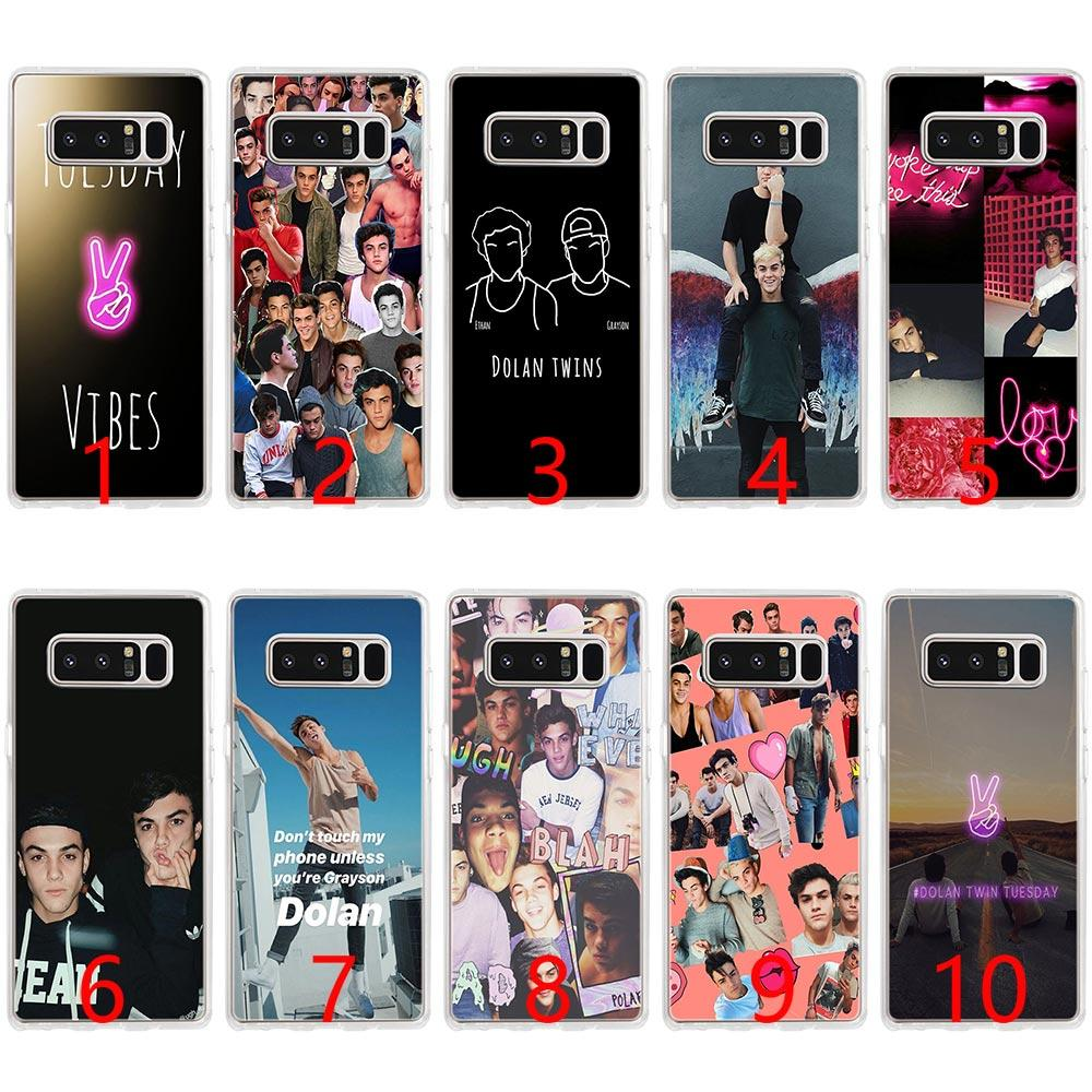 best loved 58979 c259e Dolan Twins Soft Silicone Phone Case for Samsung Note 9 8 S7 Edge S8 S9  Plus Cover