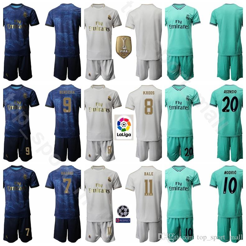 hot sale online dbefe ab23e Real Madrid Soccer 25 Vinicius Junior Jersey JR 8 Toni Kroos Set 9 Karim  Benzema 20 Marco Asensio Football Shirt Kits Uniform Custom Name