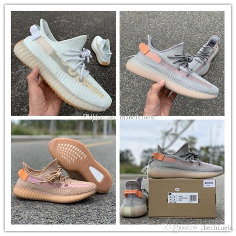 2019 Static Kanye West Semi Frozen HyperspaceTint Beluga 2.0 Crème Zèbre Blanc Hommes Femmes Running Designer Chaussures Sports Athlétique Baskets