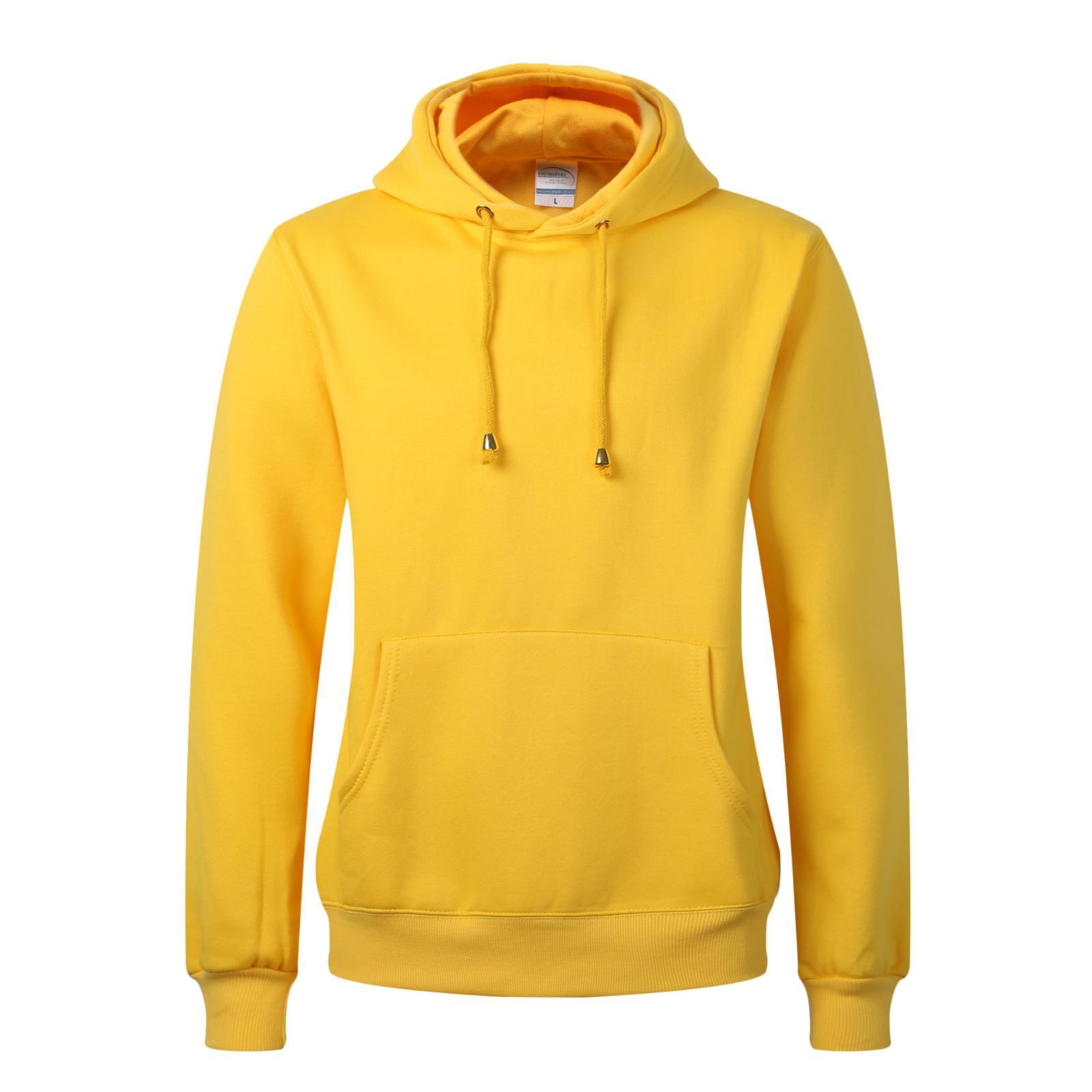 42a46c67fc6e Sudaderas para hombre 2019 Nueva chaqueta de sudadera con capucha casual de  AutumnWinter con bolsillo Moda Colores sólidos Tops multicolores Sudadera  ...