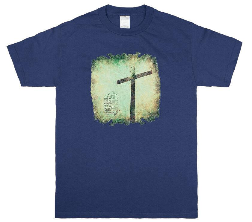 4445fcb68 God So Loved Christian Salvation Cross Jesus Christ Graphic T Shirt Funny  Unisex Casual Cool Sweatshirts Online Random Funny T Shirts From  Thebestore, ...
