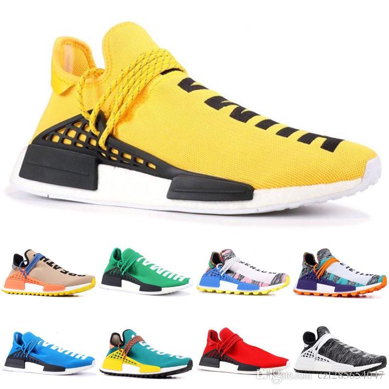 2019 NMD Human Race Mens Women Running Shoes Pharrell Williams White Red  Sample Yellow Core Black Trainers Sports Sneakers With Box 36 45 Womens  Running ... 629f0cc33