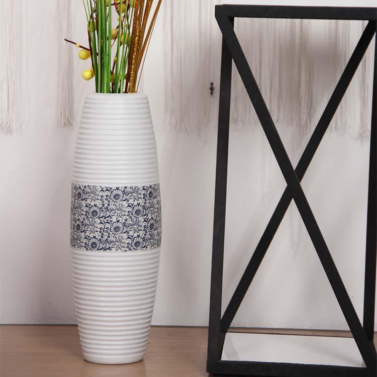 KOSTENLOSER VERSAND Moderner Haushalt schmückt das Wohnzimmer der großen  Vase Jingdezhen aus Keramik auf einfache Weise
