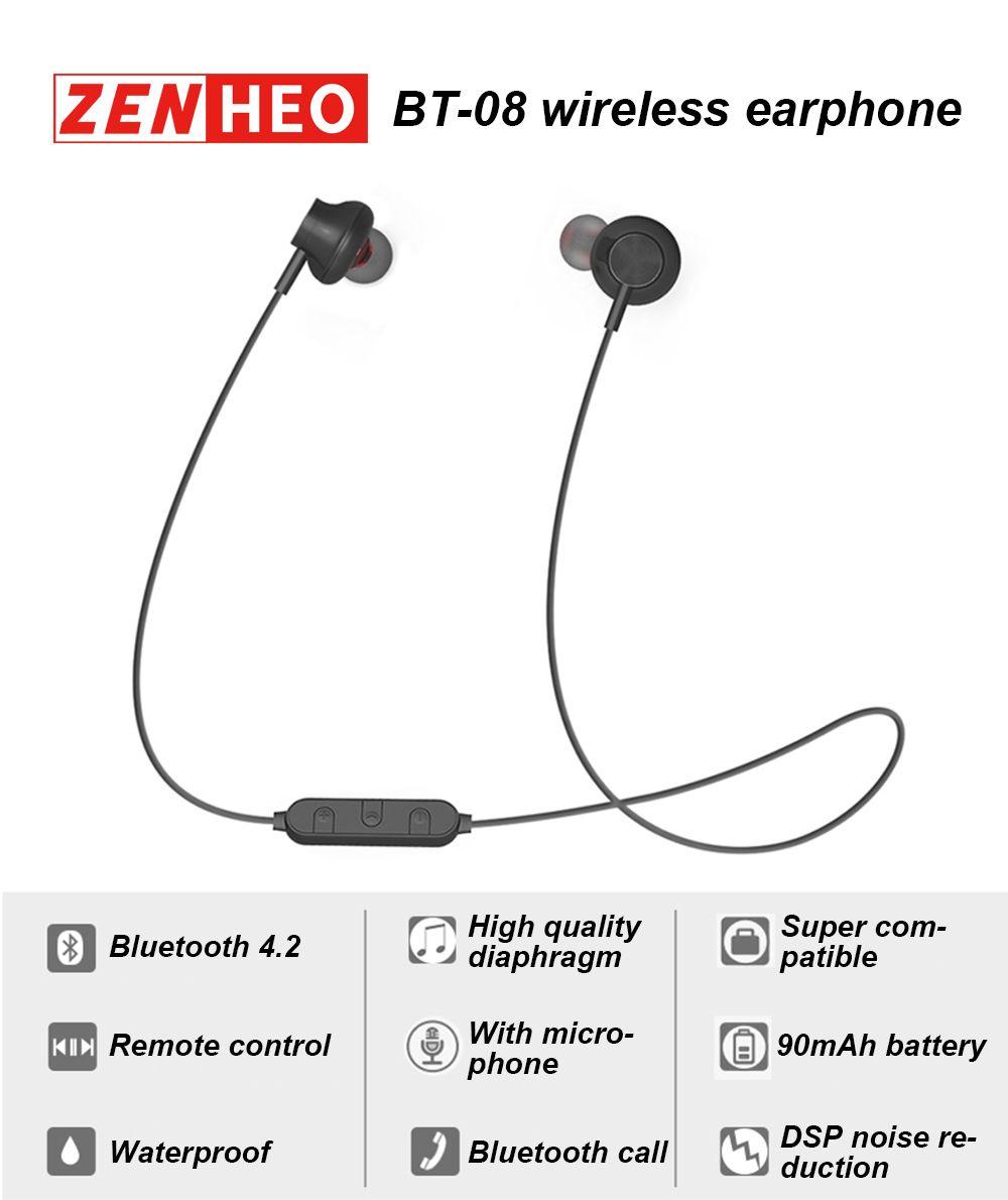 f62d7cd4cc9 BT 08 TWS Bluetooth Headset Smart Sports Earphones Wireless ...