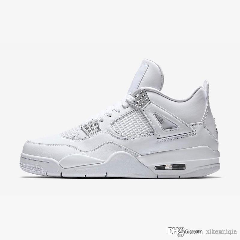 on sale 604bf d6bb2 Cheap womens retro 4s basketball shoes Pure money Blue Floral Black Red  youth kids j4 air flight jumpman iv sneakers boots with box