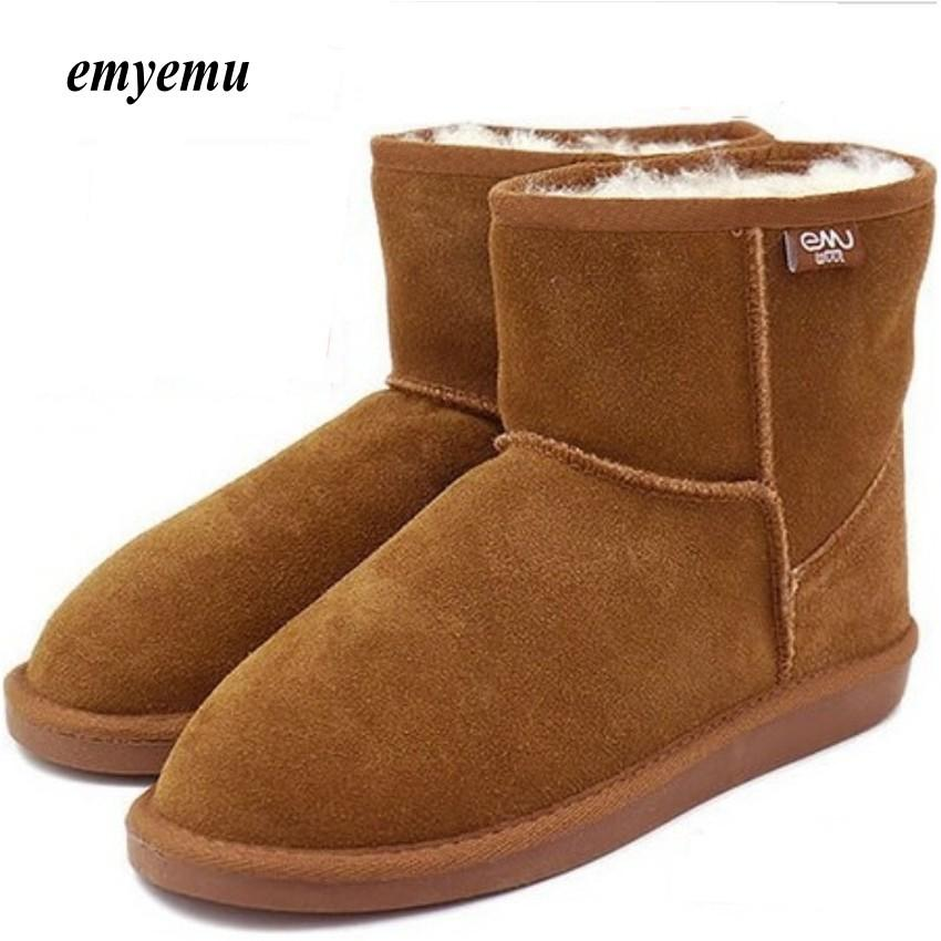 e1af7968393 2019 NEW EMYEMU Bronte MiniW20003 Cow Suede Genuine With 100% Wool Inner  Winter Snow Boots Ladies Shoes Moon Boots From Shoe6, $75.36| DHgate.Com