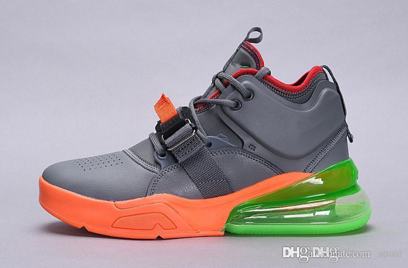 newest 7c5d6 ae82a Acheter 2018 Force 270 ID Air Hommes Chaussures De Course En Cuir Hommes  Sneakers Femmes Designer Maxes Sports Baskets 270 Zapatos Chaussure Sports  De ...