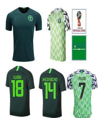 e1be9c795cc 2019 Nigeria Soccer Jerseys 2018 World Cup IWOBI SHEHU Home Field ...