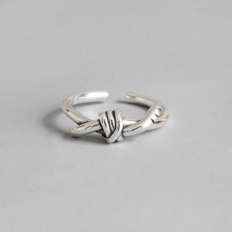 2019 Real 925 Sterling Silver Knot Rings For Women Ringen Accessories c58fb6277