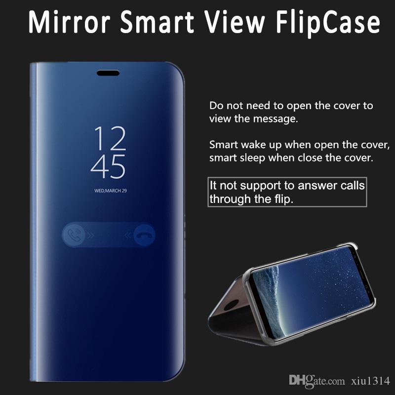 Smart Mirror Flip Phone Case For Oneplus 7 7T 6T 6 5T 5 View Cover For LG  V40 V30 G8 Case