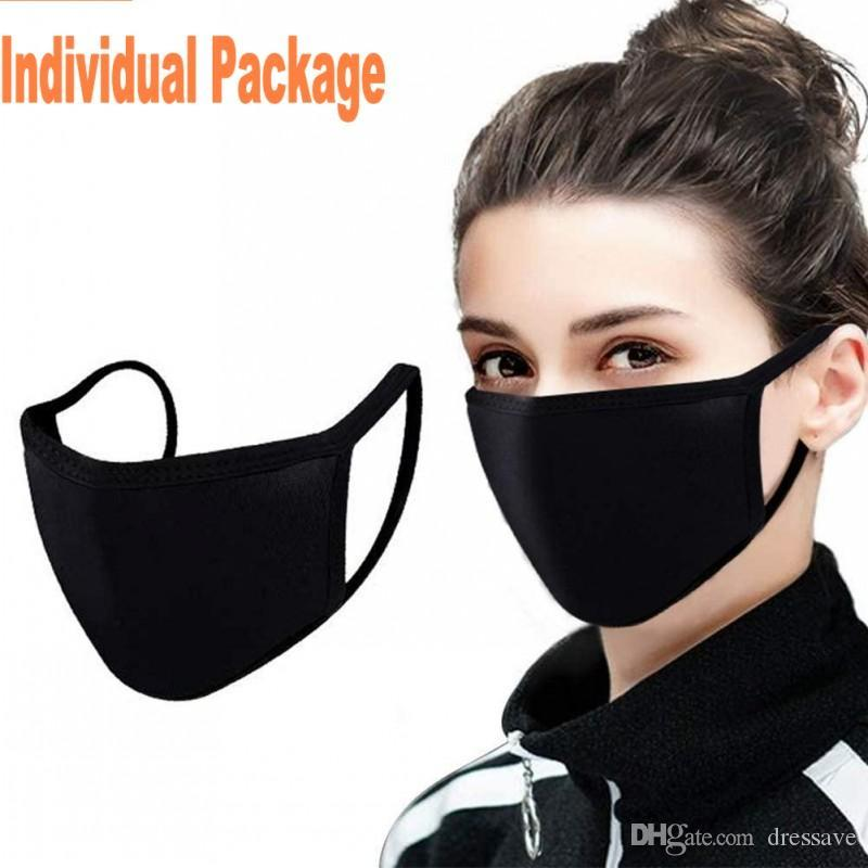 Adjustable Anti Dust Face Mask,Black Cotton Mouth Mask