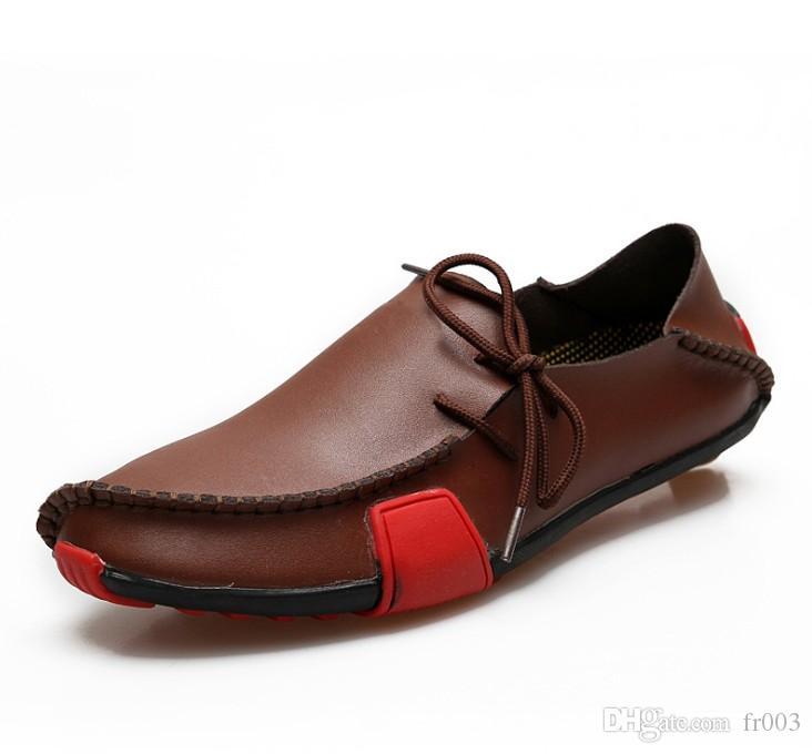 Chaussures de loisirs pour hommes en cuir souple, partie cadeau Chaussures plates Chaussures à boucles en métal Slip-on Man paresseux Falts Mocassins Zapatos Hombre 38-46