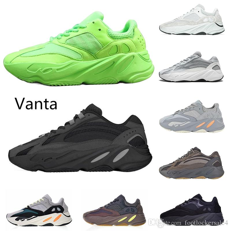 2019 Newest Wave Runner 700 Green Vanta Analog Salt Static Mauve Running Shoes For Men Women Kanye West Sports Trainers Sneakers Size 36-46