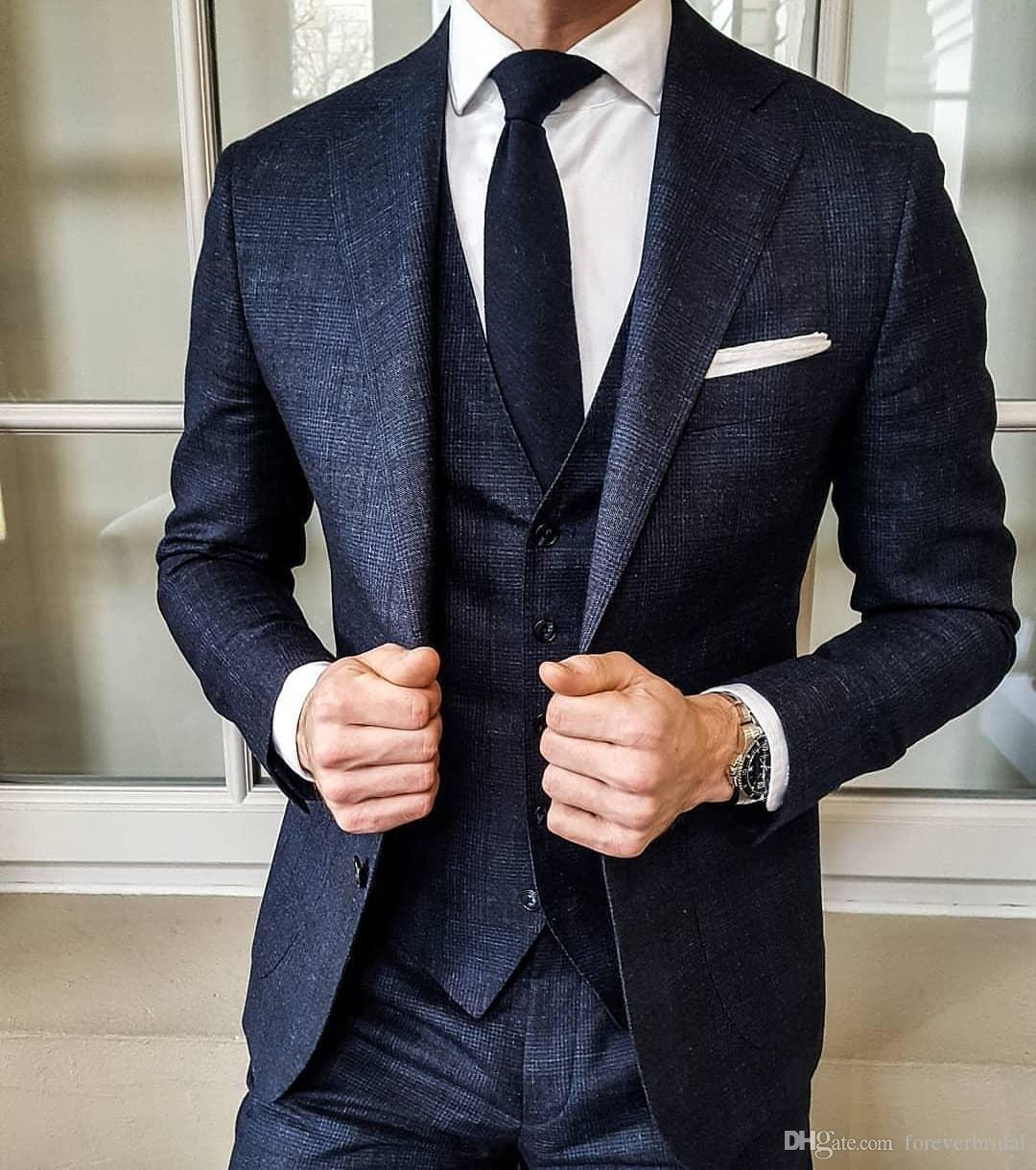 Mens Suits Wedding Ideas: Custom Made Men Suits 2019 New Groom Wear Wedding Tuxedos