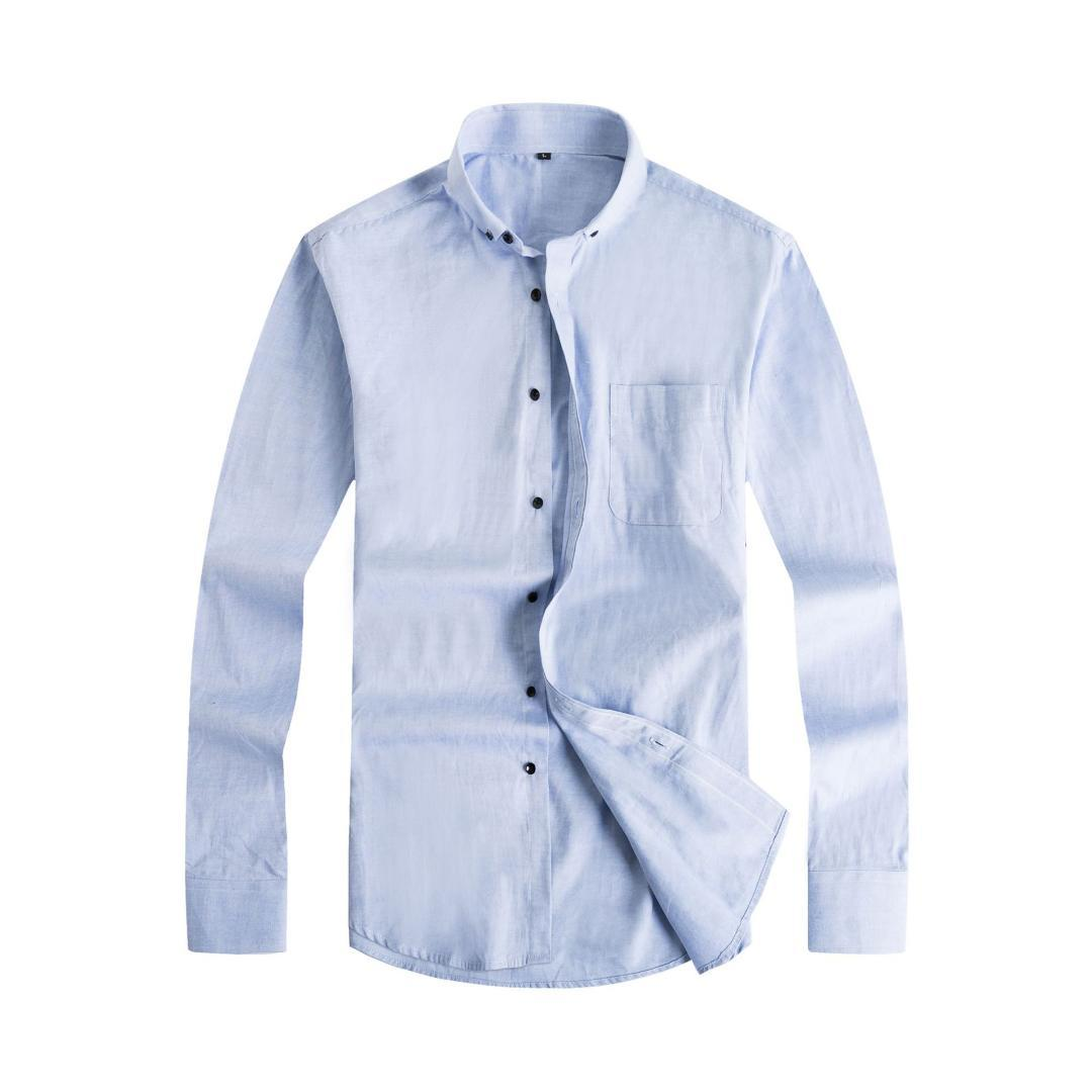 2019 New Arrived Mens Cotton Work Shirts Brand Soft Long Sleeve