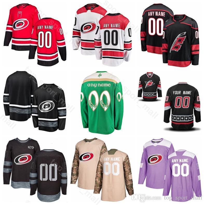 super popular 5cef0 f460d Carolina Hurricanes Ice Hockey 22 Brett Pesce Jersey 11 Staal 14 Justin  Williams 27 Justin Faulk 20 Sebastian Aho Fights Cancer Purple