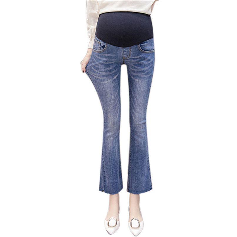 900049b1d Compre Ropa De Maternidad Embarazo Ropa Mujer Embarazada Maternidad Flaco  Flare Pantalones Pantalones De Maternidad Ropa Embarazada N28 A  47.79 Del  ...