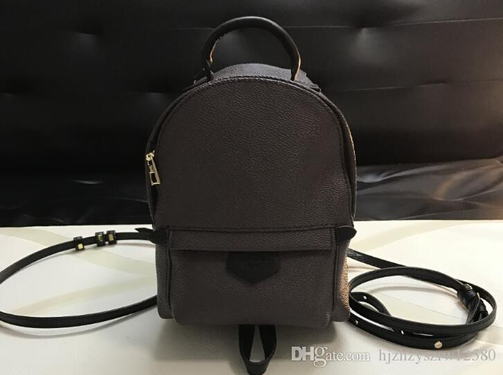 2019 fashion NEW Women's Palm Springs Backpack genuine leather children backpacks women printing leather Fashion designer backpack