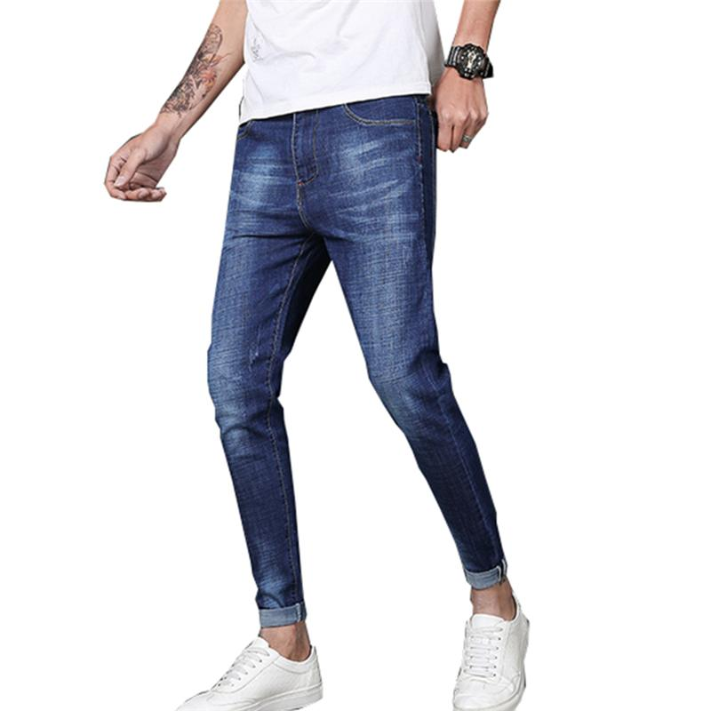 4b0f086c51 2019 Mens Skinny Jeans Fashion Casual Solid Stretch Jeans Slim Fit Ankle  Denim Pants Spring Summer Straight Pencil Pants Ripped From Honey333