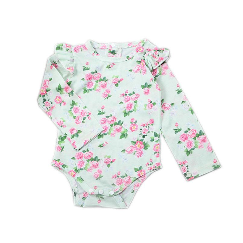 65b3e99f1bd1 2019 Babys Girls Clothes Infant Toddler Baby Boys Girls Flowers ...