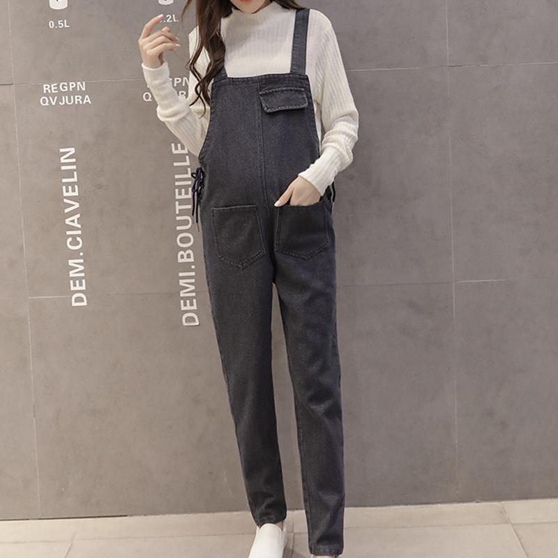 b89017c677c 2019 Maternity Plus Size Denim Jumpsuit Pants Fashion Romper Pregnant Women  Overalls Korean Plus Size Jean Jumpsuit Pregnancy Clothes From Deve