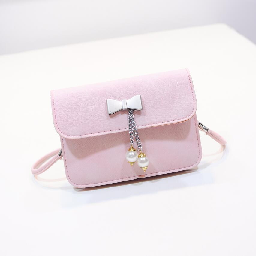 d8a5b5facadb Sweet Summer Female Bag 2019 New Fashion Pearl Bow Shoulder Messenger Bag Quality  Pu Leather Women Bag Mini Small Square Package Designer Bags Ladies ...