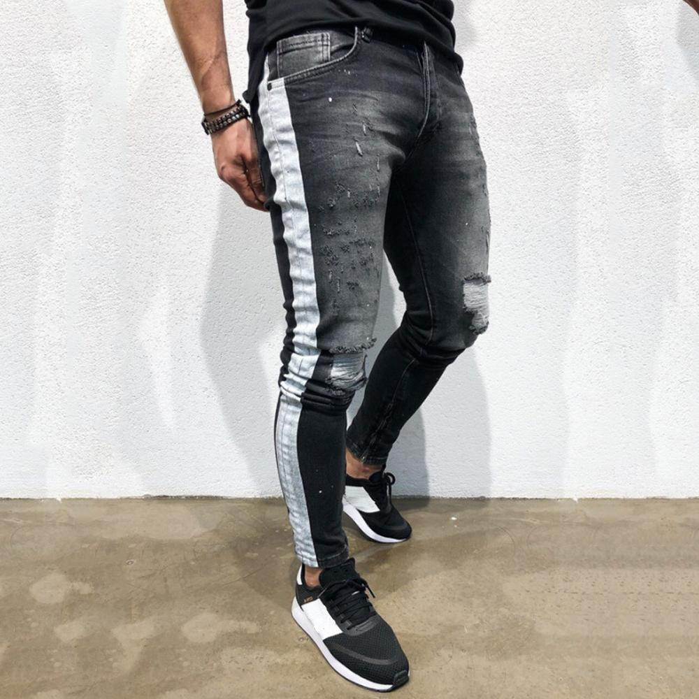 7e2e593b713 New Fashion Autumn Men Casual Jeans Pencil Pants High Quality Men's ...