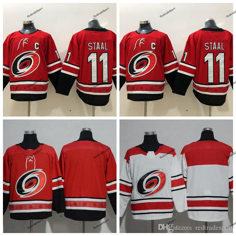 69fb712fcc4 best price 2019 2019 carolina hurricanes 11 staal hockey jerseys alternate  black home red j staal