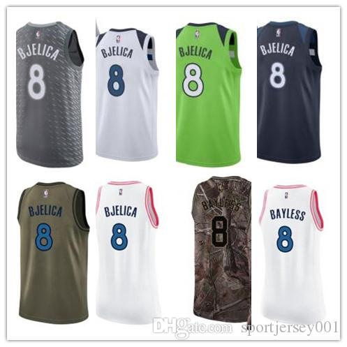 pretty nice d09a7 b899c custom 2019 Minnesota Timberwolve Jerseys #8 Nemanja Bjelica Jerseys  men#WOMEN#YOUTH#Men's Baseball Jersey Majestic basketball jersey
