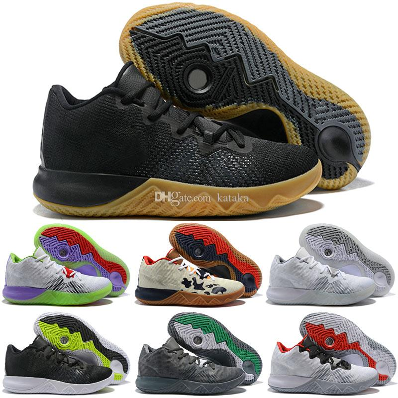 separation shoes a77b2 7f2b3 2019 New Kyrie Summer Edition 4 IV Playoffs 4s Zoom Assersion Basketball  Shoes for Mens 4s Black Yellow Orange Sports Trainers Sneakers