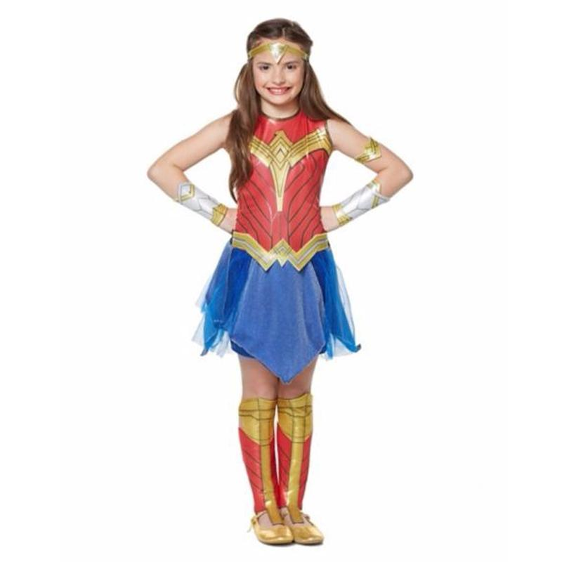 Hot Sale Deluxe Child Dawn Of Justice Wonder Woman Costume Fashion Cospaly Set Birthday Festival Gift