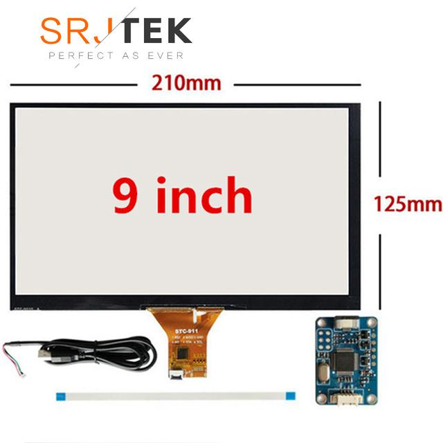 9 inch 210mm*125mm Raspberry Pi tablet PC navigation Capacitive Touch  Digitizer Touch screen panel Glass USB Driver board