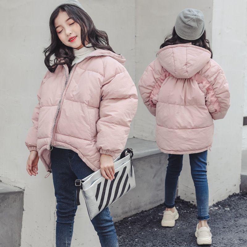 c6fec36b7 Toddler Girls Winter Jackets 2018 New Fashion Cotton Padded Down ...
