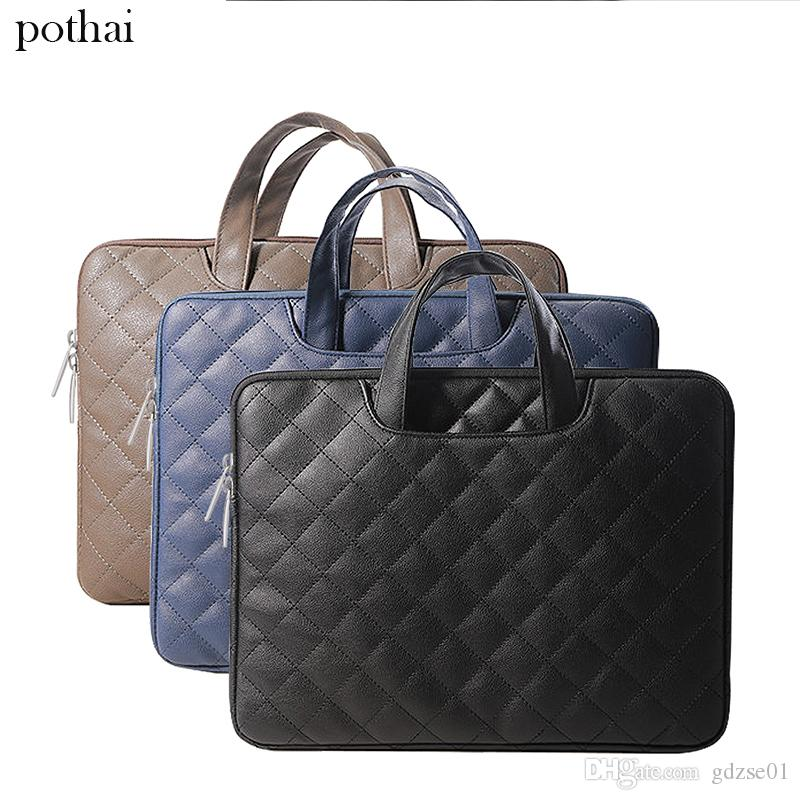 2019 Business Briefcase 11 13 14 15.6 Inch Laptop Sleeve Handbag Pu Leather  Laptop Case For Macbook Air Pro Retina Notebook Waterproof Bag From  Gdzse01 b624f43a51414