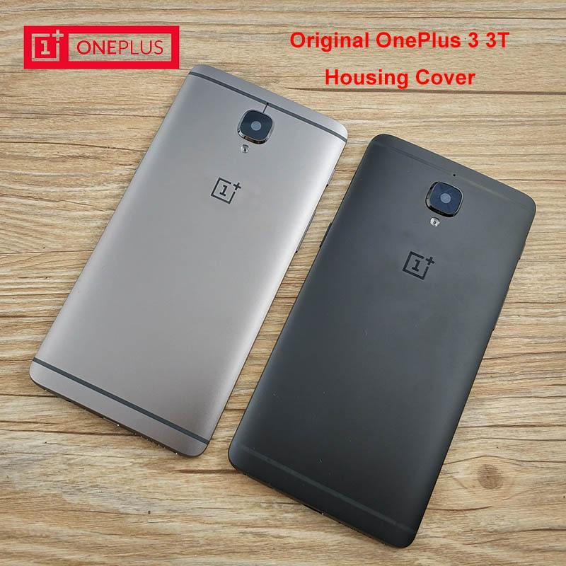best loved f1746 1cd66 Original ONEPLUS 3 3T Rear Battery Cover,Aluminum Replacement Back Door  Housing Case,With Side Buttons/Card Slot. Black